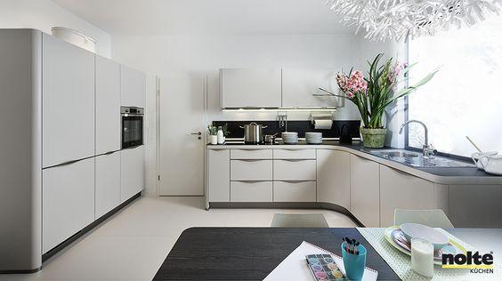 Nolte curved kitchens are a recent addition to this German - nolte kchen mit kochinsel und theke