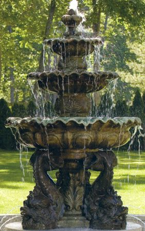 Fountains. so pretty. Want one with dragons on the bottom