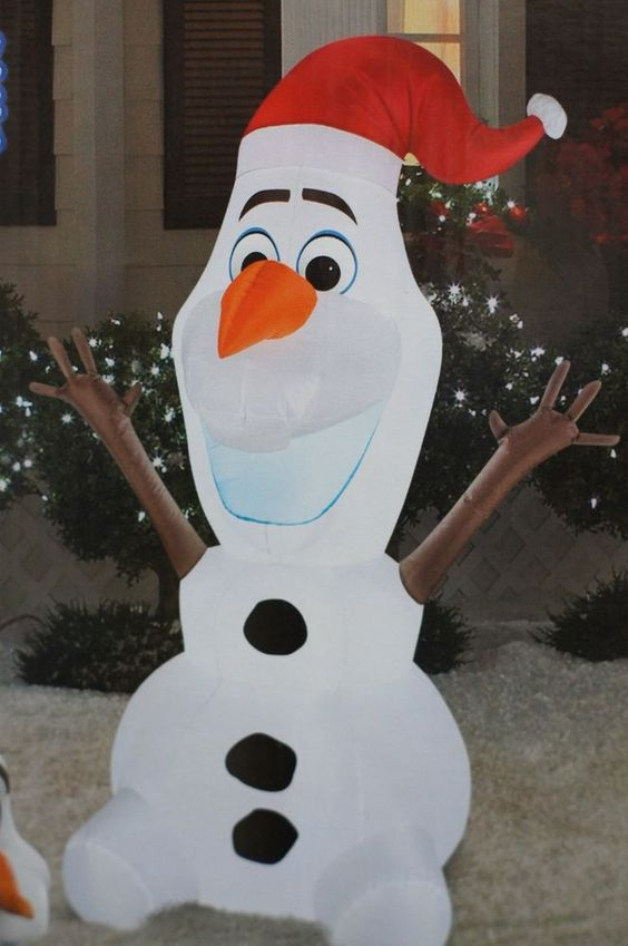 Disney frozen olaf 5 feet inflatable home decoration for Airblown decoration