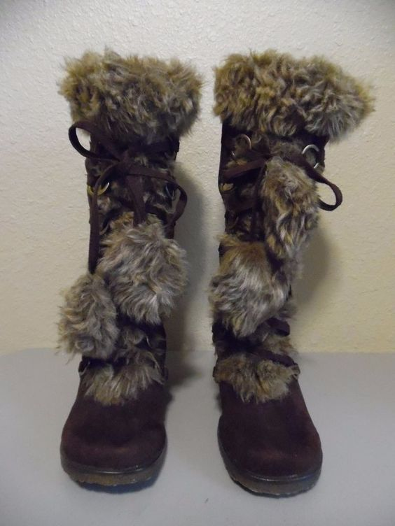 Canada Goose expedition parka outlet shop - MAX RAVE Ladies Brown Suede Fashion Boots with Faux Fur Size 8.5 ...