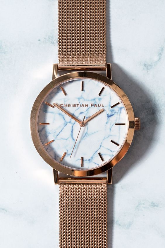 Whitehaven Marble Mesh 43mm Watch