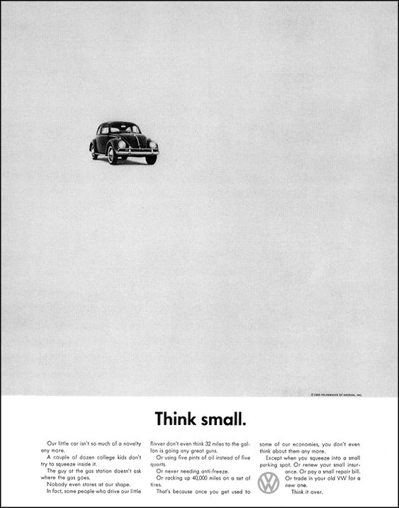 Think Small by Bill Bernbach #advertising