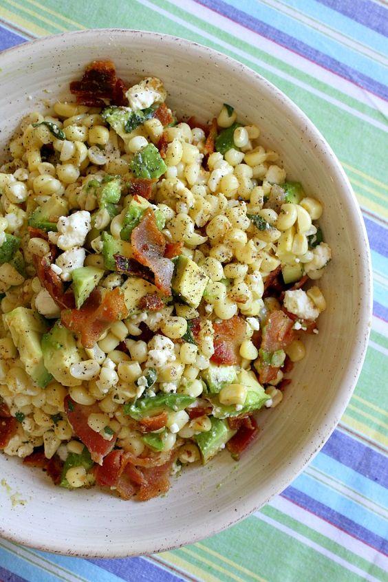Bacon, Corn And Avocado Salad : Perfect Barbecue Recipe! - RecipeGirl.com