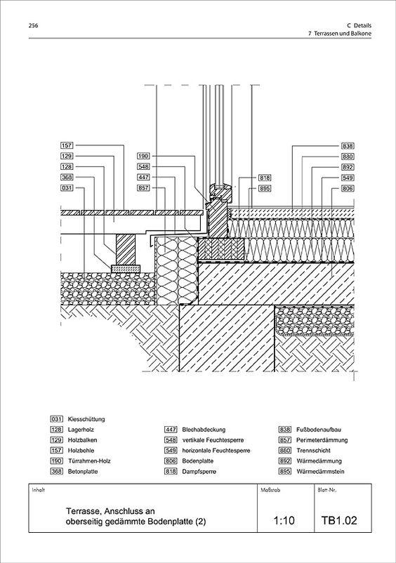 Glasfassade detail bodenanschluss  Detail - Anschluss Fassade an Bodenplatte | moderne häuser ...