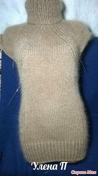 Мой новый ленивый способ вязания реглана сверху без швов. Свитер. Дополнила.:
