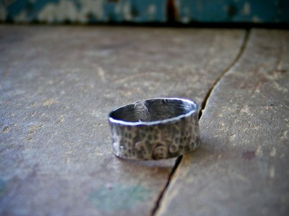 Primitive Sterling Textured Ring by ssdjewelry on Etsy, $68.00
