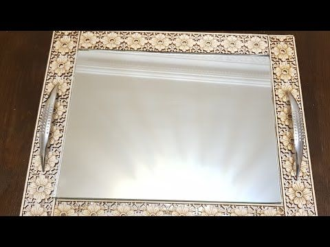 Diy صنع بلاطو راقي ب 30 درهم فقط Plateau Miroir Youtube Mirror Diy And Crafts Handcraft