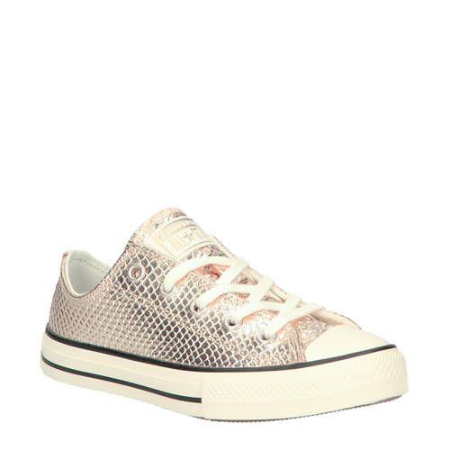 Converse Chuck Taylor All Star OX leren sneakers goudkleurig ...