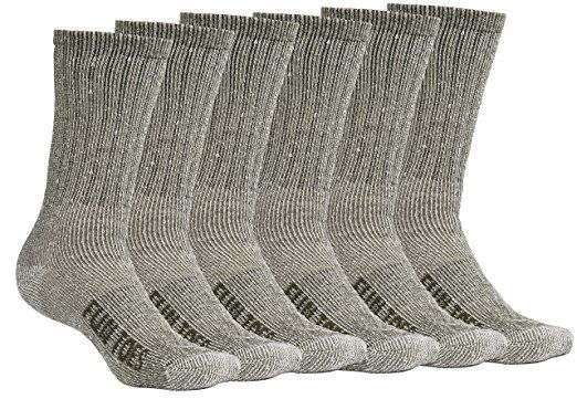 Debra Weitzner Merino Wool Hiking Socks For Men and Women 4 Pairs Athletic Socks Warm Thick Non-Slip Socks