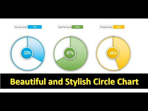 Info Graphics Beautiful And Stylish Circle Chart In Excel