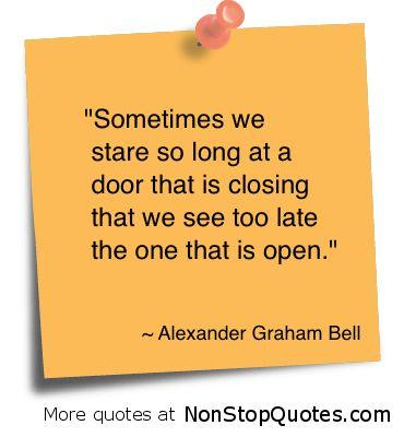 ~ Open doors are everywhere ~