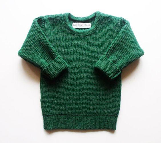 Babys/Kinder gestrickt Lambswool Crew Neck Pullover/Pullover/Jacke/Kleinkinder