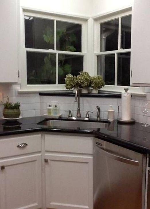 30 Lovely Corner Kitchen Sink Design Ideas For Small Spaces To Try Corner Sink Kitchen Modern Kitchen Window Corner Sink
