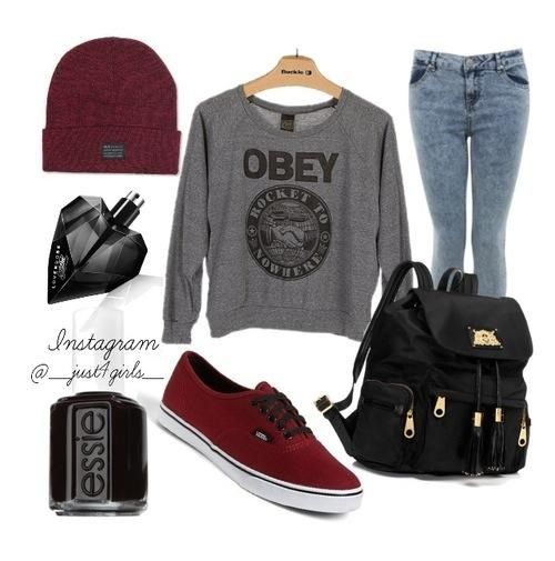 Vans #outfit #obey | Tatuajes Conjuntos Peinados Y Mas | Pinterest | Vans Outfit Daughters And ...