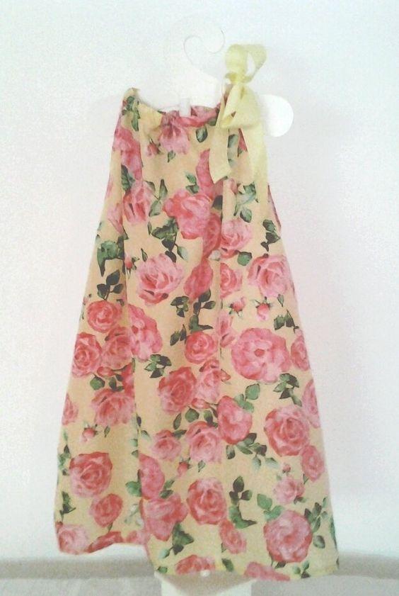 Flower Power. Vestido en seda fría  Talle de 2 a 5 años. Con lazo ajustable Comprar o consultar en  Facebook MICCA  HELLERS o Mercado Libre
