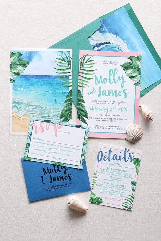 Ideas de invitaciones/ boda en la playa 4