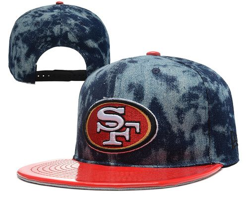 San Francisco 49ers Snapback Cap in Black//Maroon Unisex NFL Adjustable Flat Hat