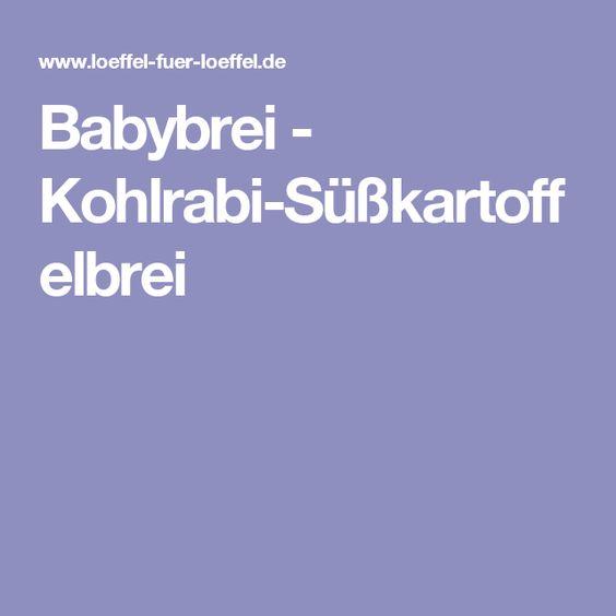 Babybrei - Kohlrabi-Süßkartoffelbrei