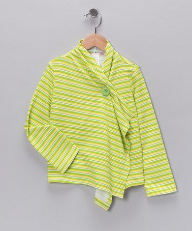 Take a look at this Lime Stripe Open Cardigan - Toddler & Girls by Totally Trixie & Bittersweet on #zulily today!#fall