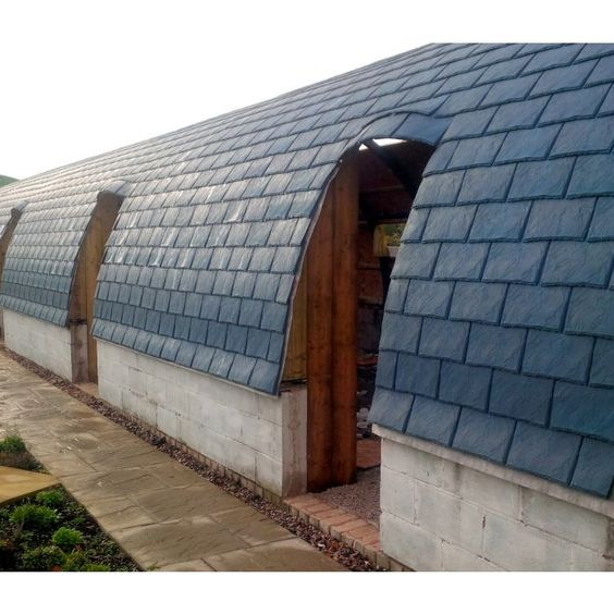 Eco Slate Recycled Plastic Slate Grey Box Of 34 Slate Roof Cost Roof Battens Slate Roof