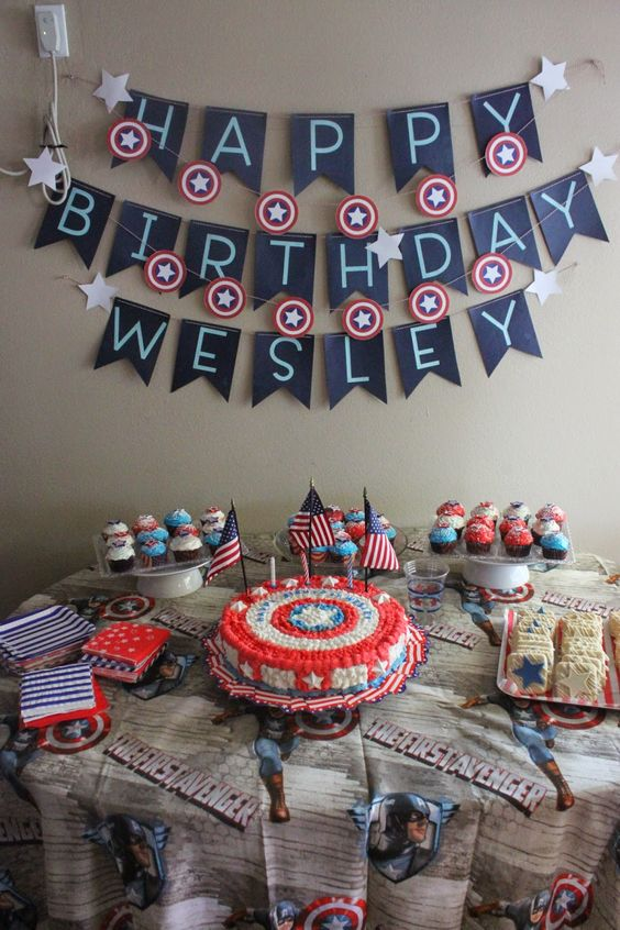 We had so much fun celebrating Wesley's 3rd birthday! A Captain America themed party is so easy when you're celebrating in between Memor...