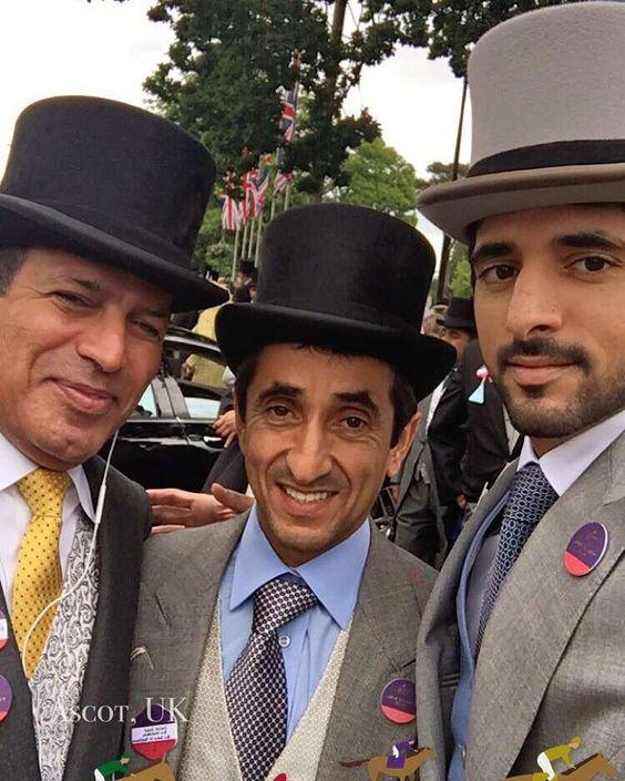 Saeed bin Maktoum bin Juma Al Maktoum y su sobrino, Hamdan bin Mohammed bin Rashid Al Maktoum, Ascot, 14/06/2016. Vía: faz3