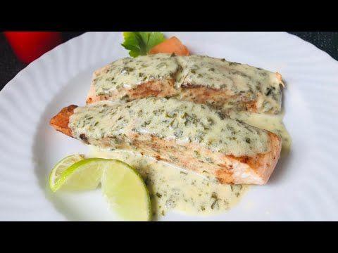 سمك السلمون بصلصة الكريمة و الليمون Youtube Food Cooking Yum