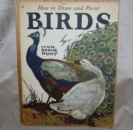 1930s 1940s How to Draw and Paint Birds Lynn Bogue by stannous