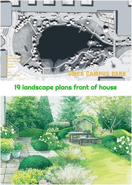 19 Landscape Plans Front Of House Landscape Plans Plan Front House Front