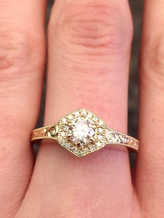 Vintage Custom Yellow Gold Ring #seneedhamjewelers #loganutah