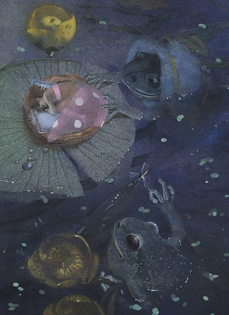 Thumbelina illustration by Nadezhda Illarionova