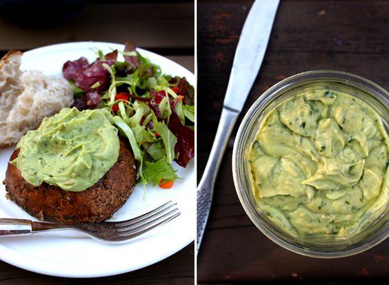Healthy avocado-basil mayonnaise