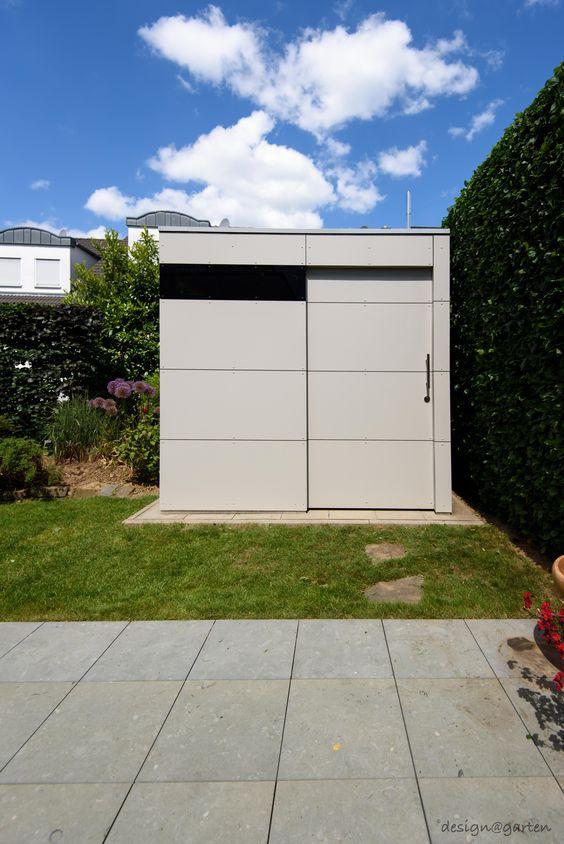 design gartenahaus gart zwei mit schiebet re in hennef. Black Bedroom Furniture Sets. Home Design Ideas