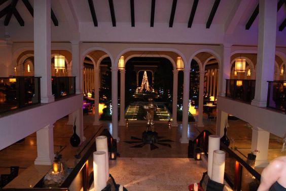 Lobby of the Paradisus Palma Real, Dominican Republic.