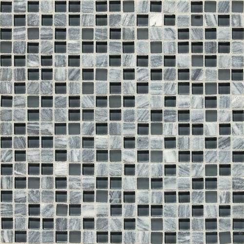 Possible floor border: Glacier Gray Marble Random Mosaic Blend SA59