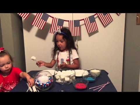 4th of July Marshmallow Pops - YouTube