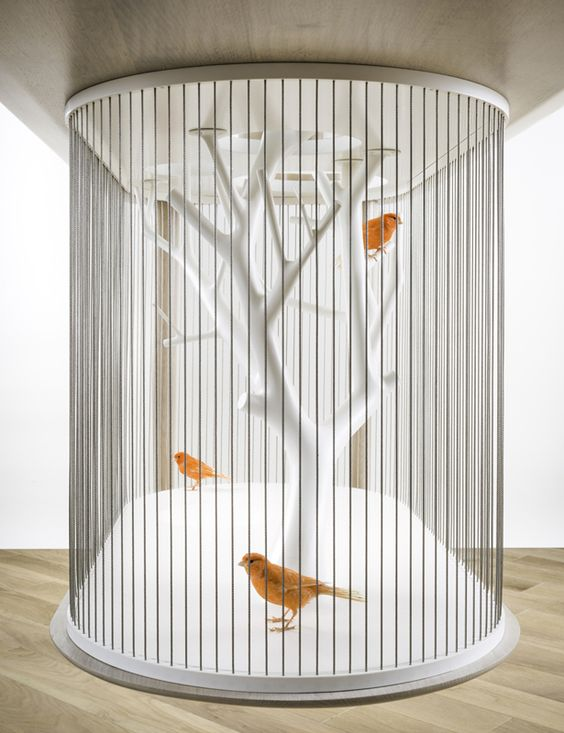 Archibird Cage : A Sculpture and Furniture in One by Grégoire de Lafforest