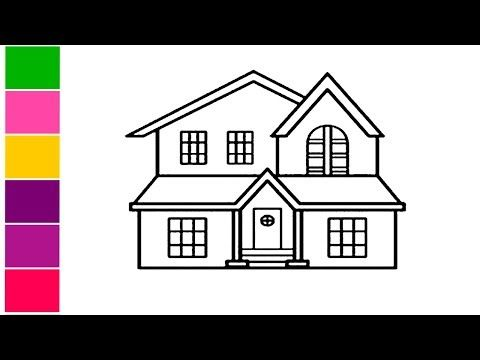 How To Draw A Beautiful House How To Draw A House For Kids Cottage House Easy Draw Tutorial You In 2020 Simple House Drawing House Drawing For Kids House Drawing