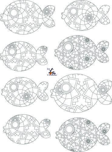 poissons à colorier by L¨As Créations