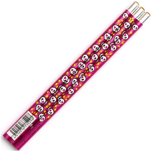 pink skull wooden pencil stars by Cream Cream Japan 2 love gem on the end @modes4u