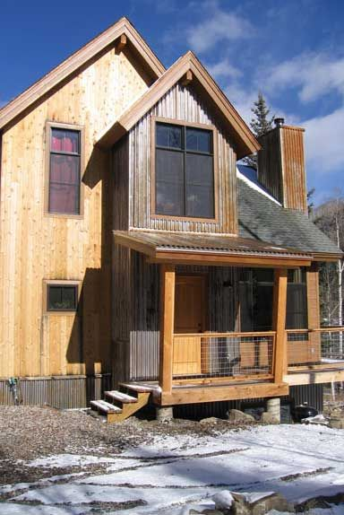 Rusty metal home and the o 39 jays on pinterest for Natural wood siding