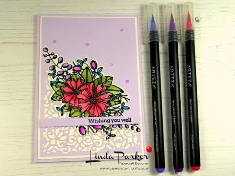 Real Brush Pens By Arteza A Review And A Card Project Youtube