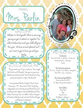 All about the teacher back to school printables for Free meet the teacher template