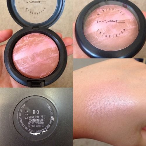 M.A.C RIO. This gorgeous sparkly @M∙A∙C Cosmetics shimmery pink powder is the ultimate make-up item for Spring/Sumer 2014. Team with a nude pink lip and a subtle and soft brown eyeshadow and lashings of mascara. Gorgeous.