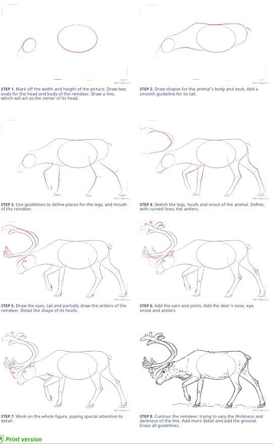 How To Draw Deer Super Coloring Com Risunok Zhivotnyh Uroki Risovaniya Risovat
