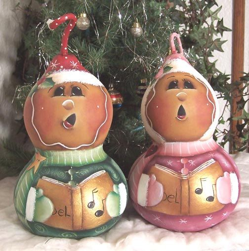 Christmas Gourd Carolers Painting Pattern       by Paintingonjars, $6.00