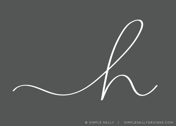 """""""h"""" initial, handwritten   SIMPLE SALLY   for photographers, custom hand lettered"""