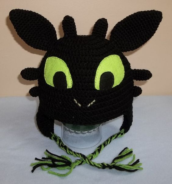 Toothless Knitting Pattern : Toothless The Dragon crocheted hat. on Etsy, USD15.00 Things I made Pintere...