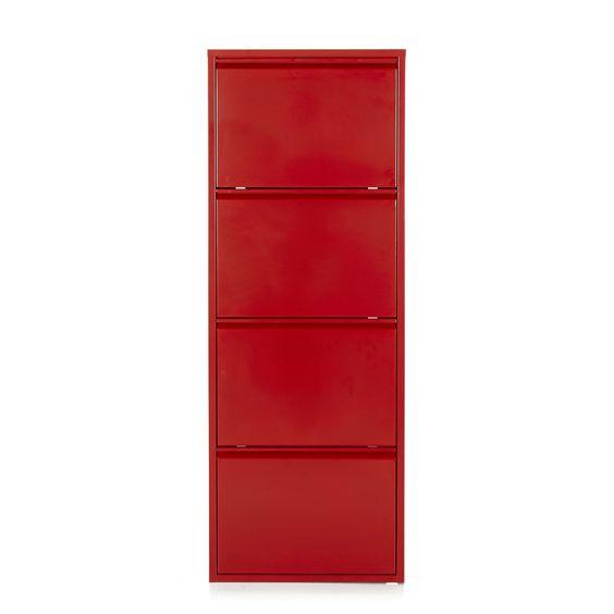 Meuble à chaussures en métal rouge Rouge - Lofter - Meubles à chaussures - Tout pour le rangement - Décoration d'intérieur - Alinéa