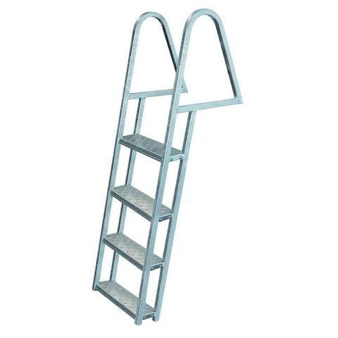 Jif Marine 4 Step Tie Down Dock Ladder Galvanized Steel Fdq4 Ga Dock Ladder Folding Ladder Aluminium Ladder